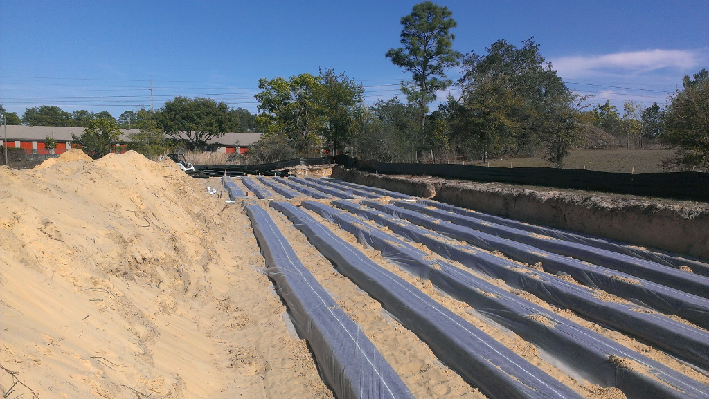 Commercial septic system installed in Florida-1