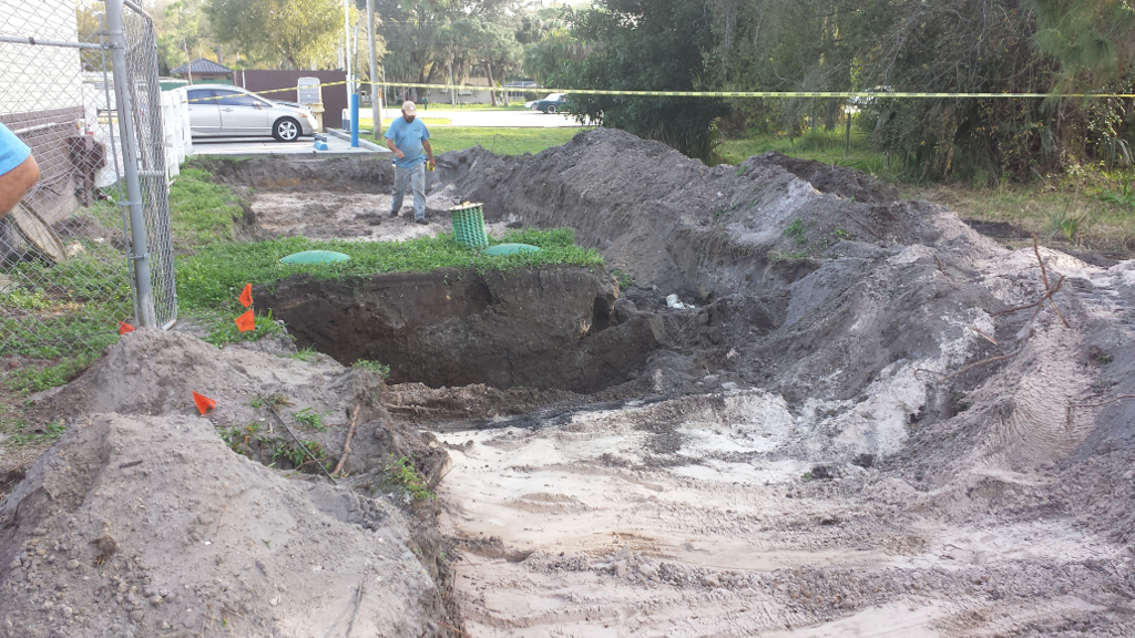 Excavate Old Drainfield