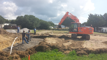 Excavating and Prepping Site for Package Plant-s